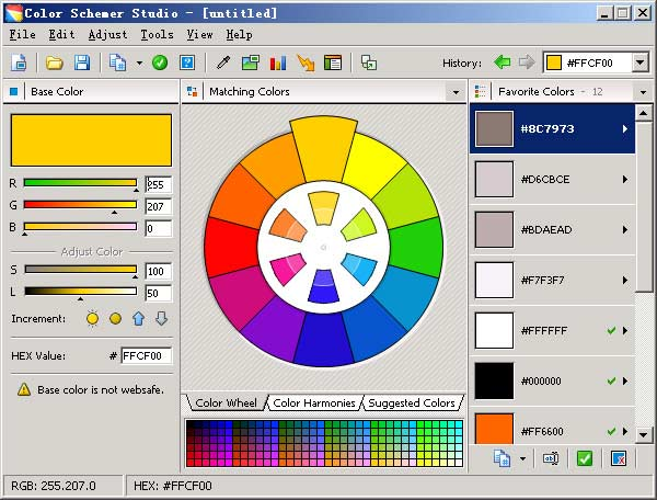 color schemer,网页配色工具